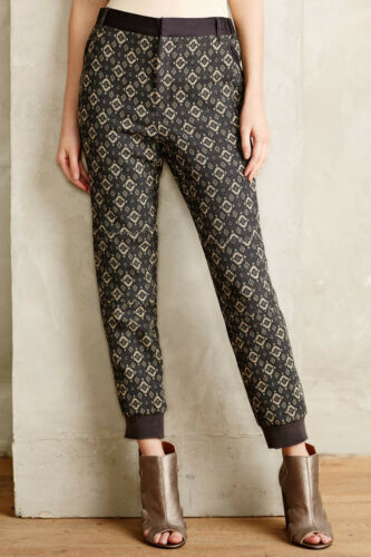 Cartonnier Josephine Metallic Jacquard Joggers Pants X-Large NW ANTHROPOLOGIE Ta