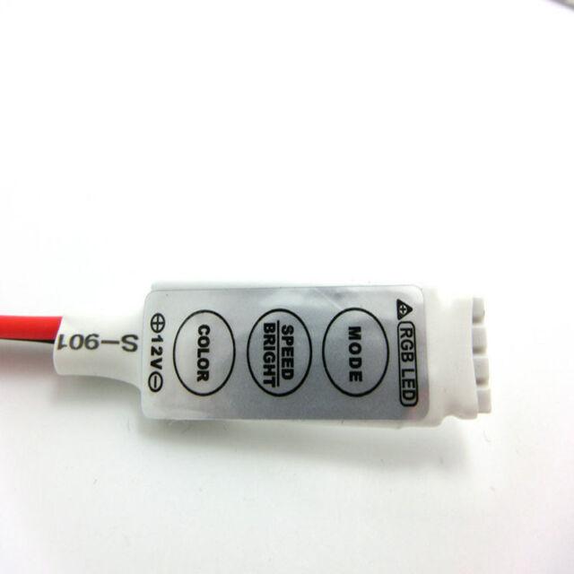 3 Key 12V 12A Controller Dimmer Amplifier For RGB 5050 3528 LED Strip Light 1Pc