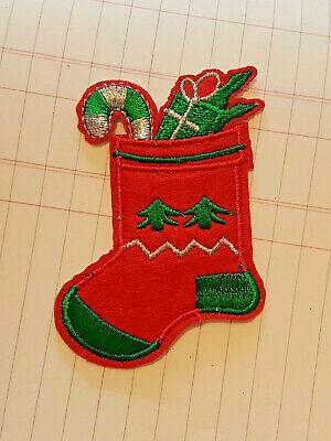 Xmas stocking SANTA jesus merry christmas hotfix Sew on Applique Motif Patch