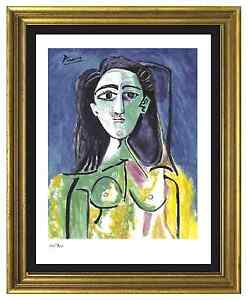 Pablo-Picasso-Signed-Hand-Numbered-Ltd-Ed-034-Jacqueline-034-Litho-Print-unframed