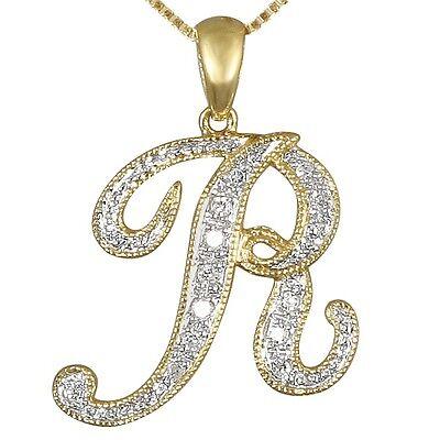 """LETTER /""""G/"""" SCRIPT DIAMOND INITIAL 14K WHITE GOLD REGULAR SIZE"""