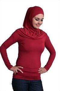 Ladies-T-Shirt-Islamic-Women-039-s-Long-Sleeve-Top-Blouse-100-Cotton-2