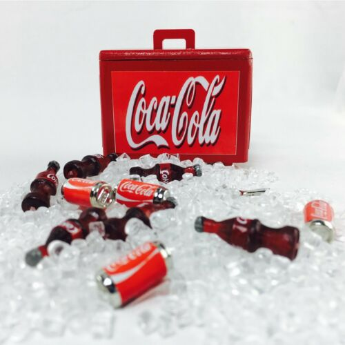 Set cooler ice chest drink soda dollhouse miniature deco tiny small figure toy