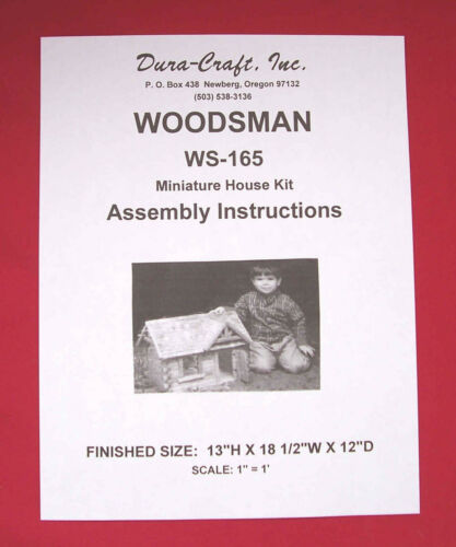 Dura-Craft  *WOODSMAN* WS-165 Dollhouse Instructions