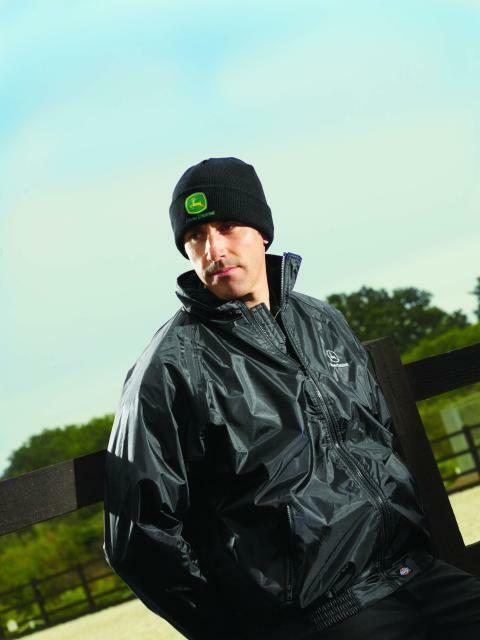 John Deere Adults Dickies Black Woolly Knitted Beanie Hat One Size JD880