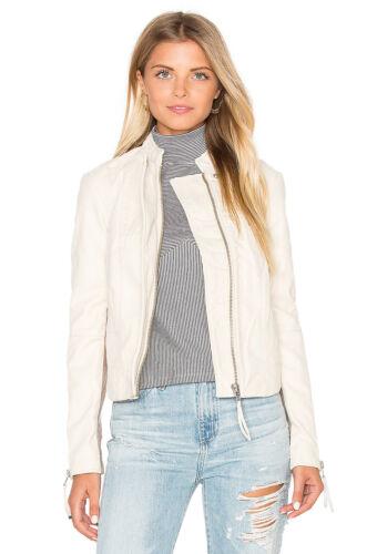 Suede Clean Jacket Women's Bone People 888374415176 Nwt Vegan Free Moto Cool Læder White SqXSwRgx