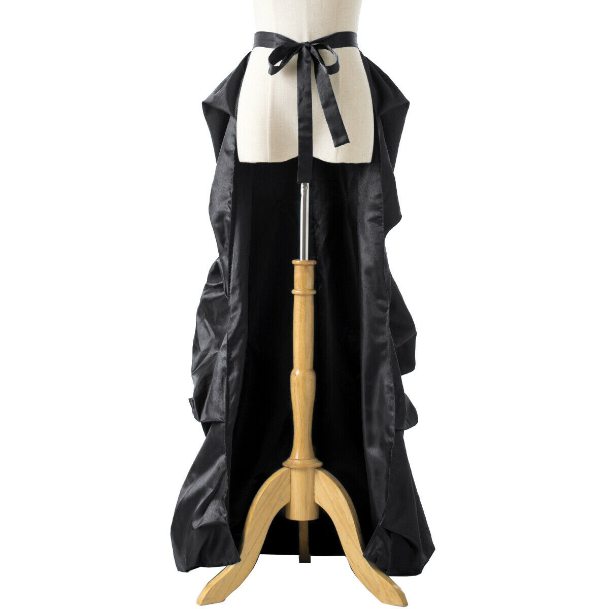 Vintage Victorian Edwardian Bustle Skirt Fancy Dr… - image 11