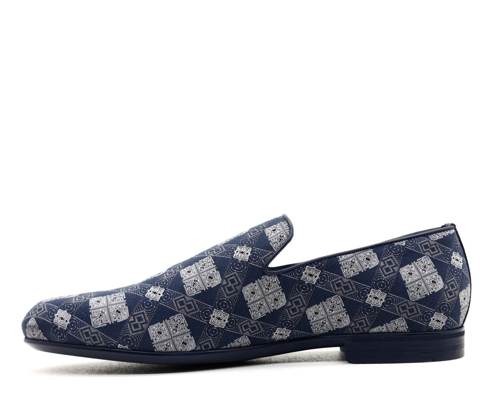 Jimmy Jimmy Jimmy Choo Mocasines Sloane Tela Azul Zapatos sin Cierres Nuevo en Caja 97b145