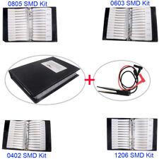 0805 0603 0402 1206 Smd Capacitor Resistor Assortment Kit Sample Book Clip