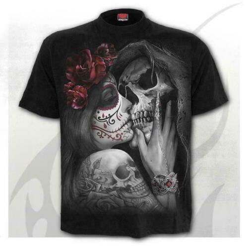 Spiral Direct Dead Kiss Mens T-Shirt DOTD MMA UFC Tattoo Clothing