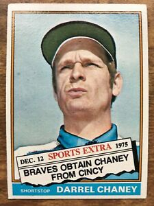 Details About 1976 Topps Traded Baseball Card 259t Darrel Chaney Atlanta Braves Ex