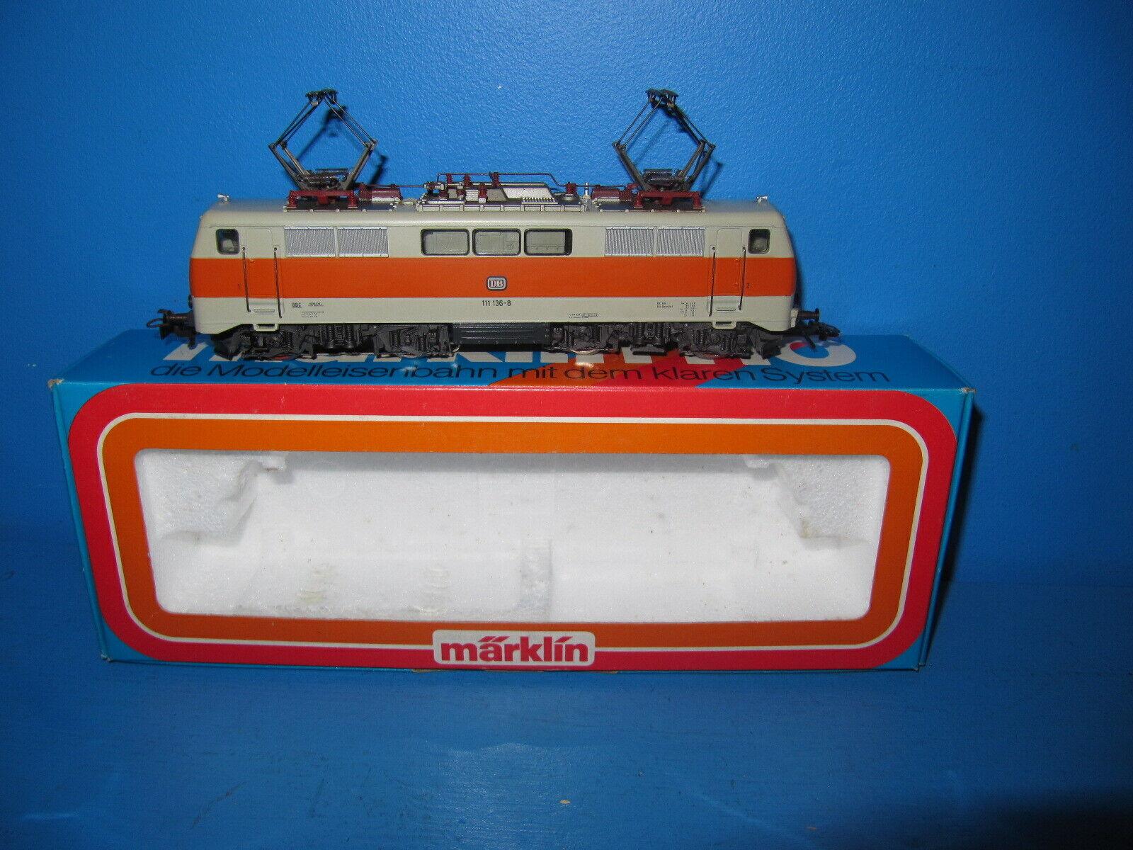 Märklin h0 E-Lok BR 111 136-8 delle DB in OVP no. 3155  969