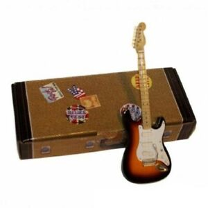 Buddy Holly Fender Guitarra miniatura 13 cms Rock and Roll Atlas Editions