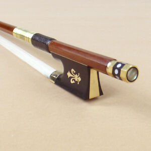 5 Star Gold Fleur Decorate Violin Bow Over 30 Years Old