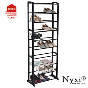 10-TIERS-30-PAIRS-SHOE-RACK-SHOES-SHELVES-ORGANIZER-STAND-STORAGE-EASY-ASSEMBLE