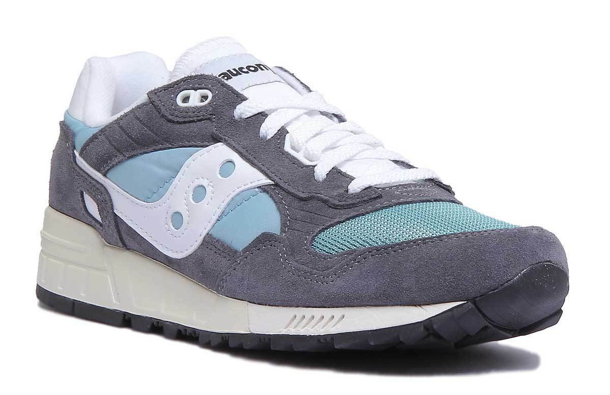 Saucony Shadow 5000 Vintage Mens Grey and bluee Trainers UK Size 7 - 12