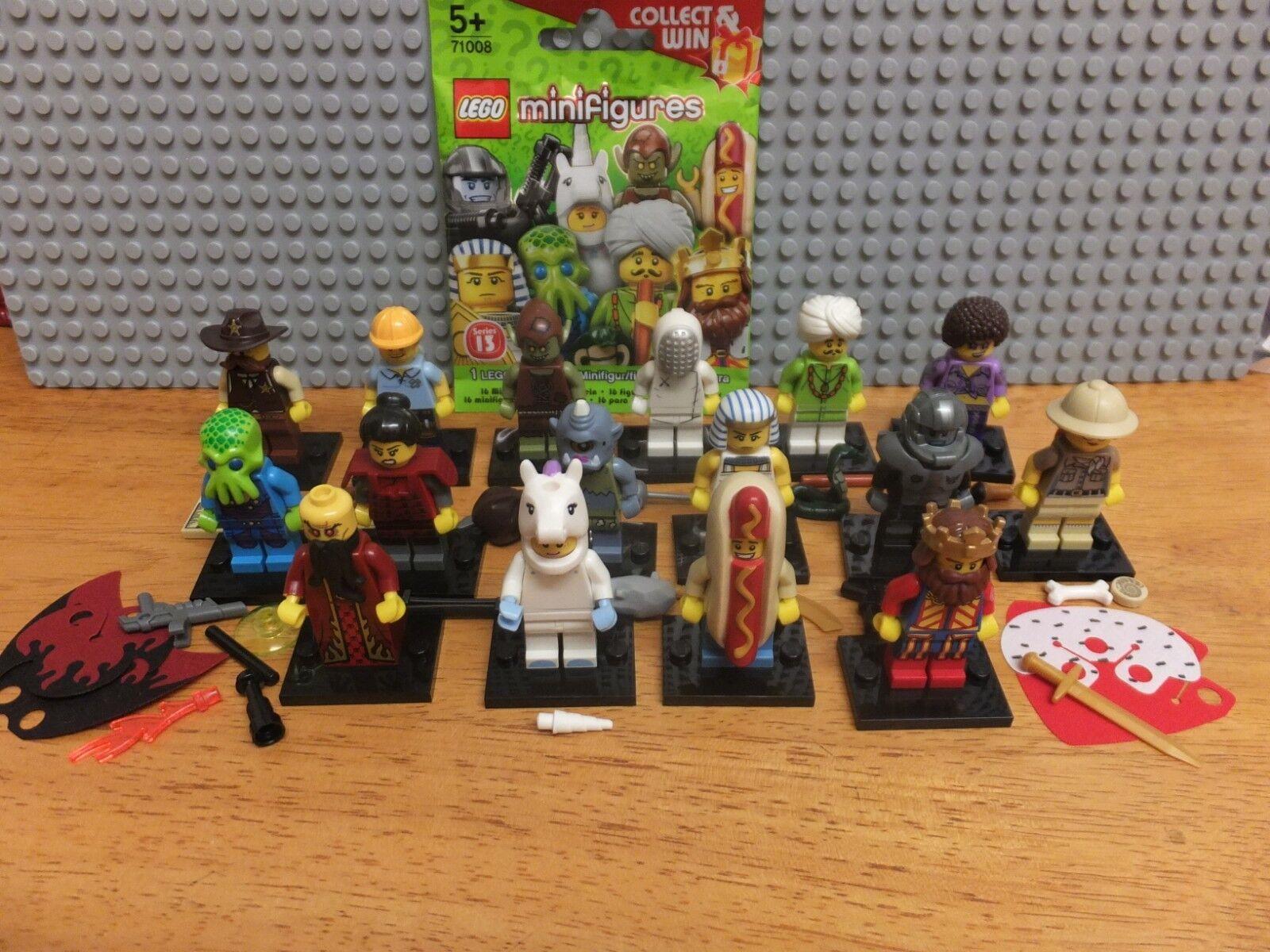 Lego Series 13 13 13 Complete Set Of 16 Minifigures 6b7204