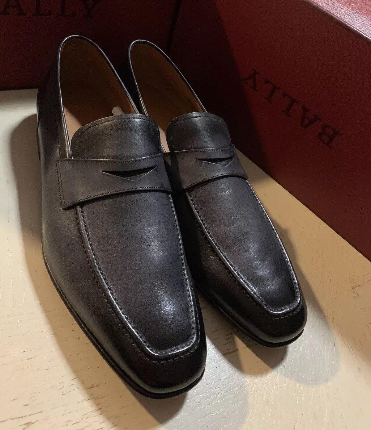 New  750 Bally Men Men Men Brent Black Kangaroo Plain shoes 12 US ( 45 Eu ) Switzerland 146be8