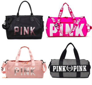 Details About Womens Las Sequins Black Pink Gym Bag Women Shoe Waterproof Sport Yoga