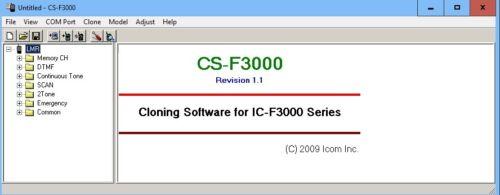 Icom CS-F3000 v1.10 for IC-3000 IC-4000 series