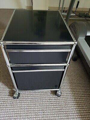 Erfinderisch Usm Haller Rollcontainer Schwarz - Zwei Auszüge - Für Hängeregistratur