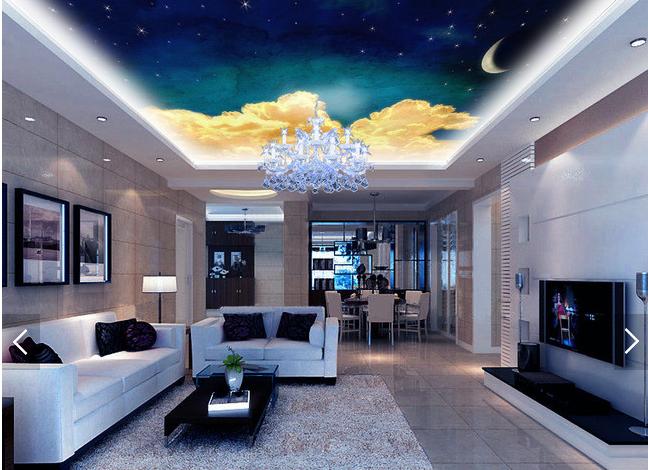 3D Golden Cloud 854 Ceiling WallPaper Murals Wall Print Decal Deco AJ WALLPAPER