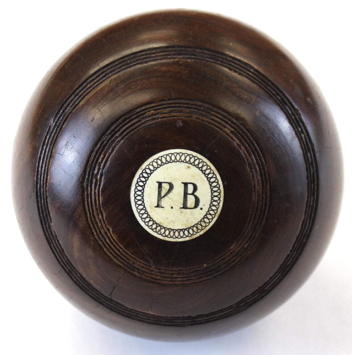 Paul Desmond Brown (P.B.) Jaques & Son Lawn Bowling Ball
