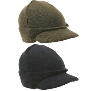 21a439cc78f MENS JEEP BEANIE HAT THERMAL BRITISH ARMY CADET BOB HAT CAMPING ...
