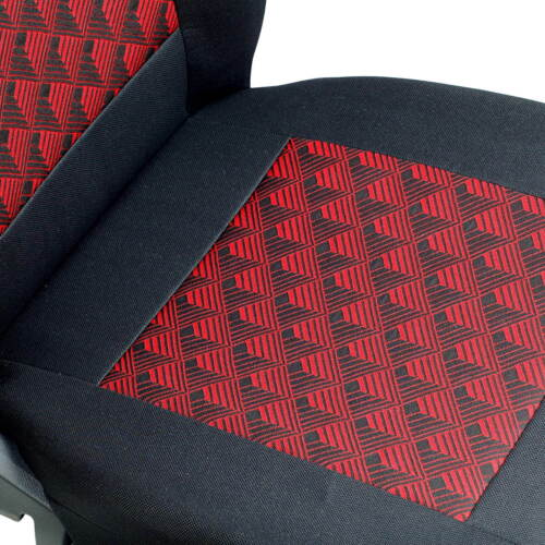 CAR SEAT COVERS FOR KIA SOUL FULL SET BLACK RED 3D EFFECT