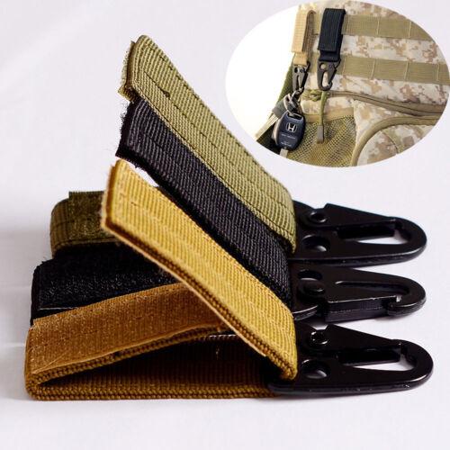 EV/_Military Nylon Key Hook Webbing Molle Buckle Hanging Belt Carabiner Clip New