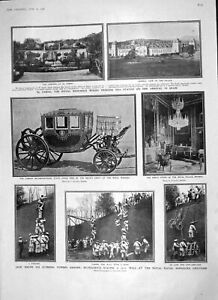 Old Antique Print 1906 Bluejackets Chatham Palace Madrid Goodwyn Vaughan 20th