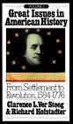 Great Issues in American History: From Settlement to Revolution, 1584-1776 by C.L. Ver Steeg, R. Hofstadter (Paperback, 1973)