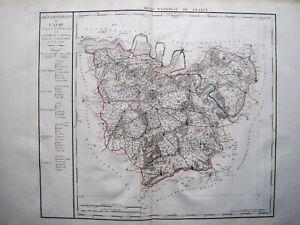 ATLAS-NATIONAL-FRANCE-DEPARTEMENT-DE-L-039-EURE-1790-KUPFERSTICH-D-039-HOUDAN-RIESIG