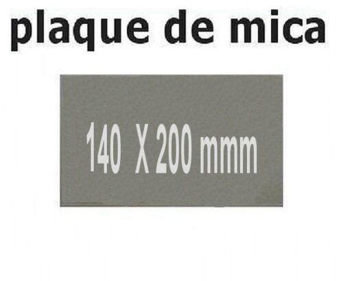 PLAQUE DE MICA A DECOUPER 140X200 MM POUR MICRO ONDE
