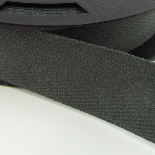 20 COLOUR 14mm POLYESTER Herringbone Twill Tape Lightweight Webbing BUY 1 2 4 8m