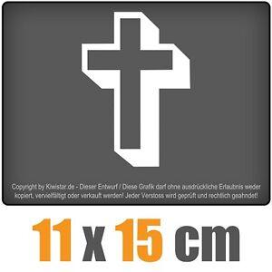Cruz-de-11-x-15-cm-JDM-decal-sticker-coche-car-blanco-discos-pegatinas