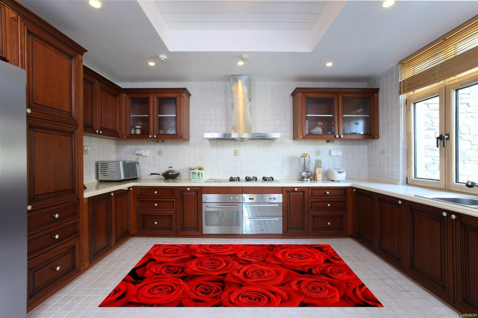 3D ROT Roses 939 Kitchen Mat Floor Murals Wall Print Wall AJ WALLPAPER UK Kyra