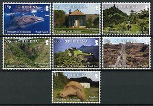 St-Helena-Landscapes-Stamps-2020-MNH-7-Wonders-Napoleon-Sharks-Turtles-7v-Set