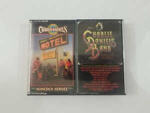 Charlie Daniels Band Cassette Lot - A Decade of Hits - Homesick Heroes