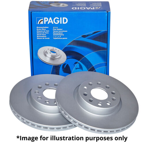 PAGID FRONT AXLE INTERNALLY VENTED BRAKE DISCS 54395 Ø 294 mm BRAKE KIT BRAKES