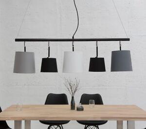 Détails sur Lampe Suspendue Moderne Noir Blanc Gris Plafonnier Salle à  Manger Alicante 100cm