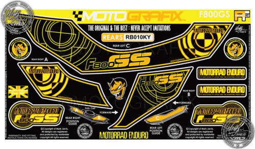 BMW GS 800 F800GS Rear Seat Fairing Number board Motografix 3D Gel Protector