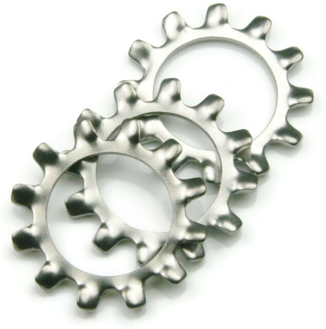 300pcs Star Washers Lock Washer Serrated Rustproof 304 Stainless Steel Internal Teeth for Fixing Parts