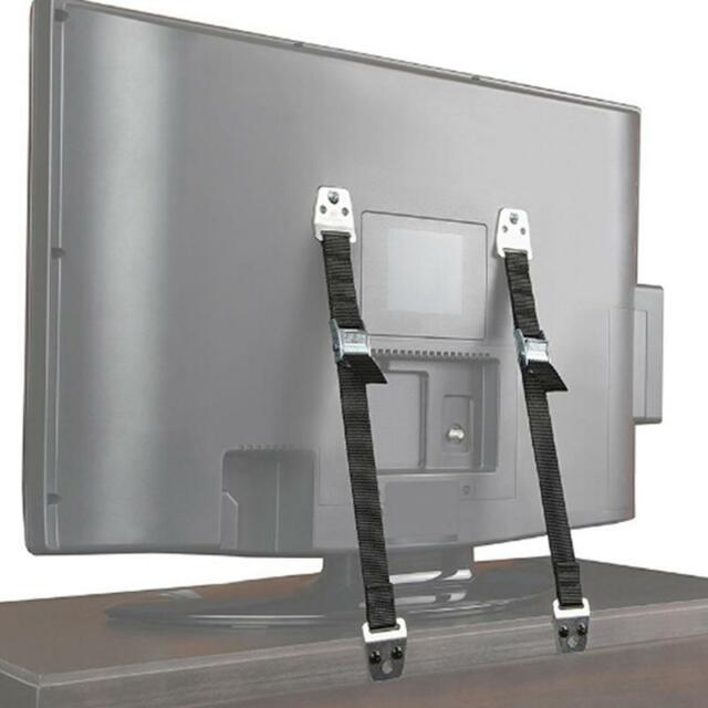 Anti Tip Flat Screen TV Saver Straps Safety Wall//Furniture Restraint Anchor C