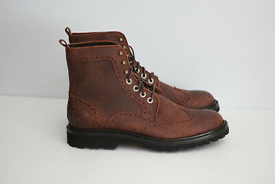 d1fb22e479c NEW Wolverine Percy Wingtip Boot - Brown Pebbled Grain Leather - Size 10 D  (C24) | eBay