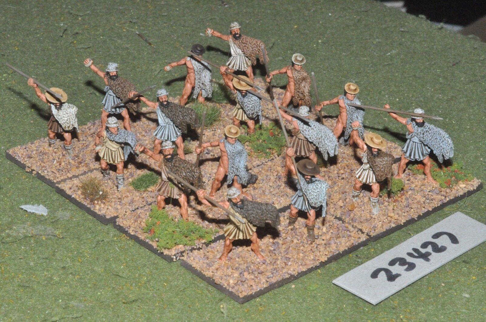 25mm classical   greek - light 16 figures plastic - inf (23427)
