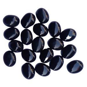 5x5 mm Round Black Onyx Cabochon Loose Gemstone Wholesale Lot 30 pcs
