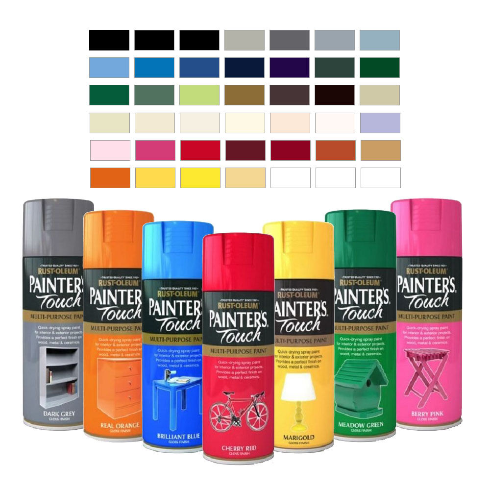 Rust Oleum Painter 39 S Touch Multi Purpose Aerosol Spray Paint Satin Gloss Matt Ebay