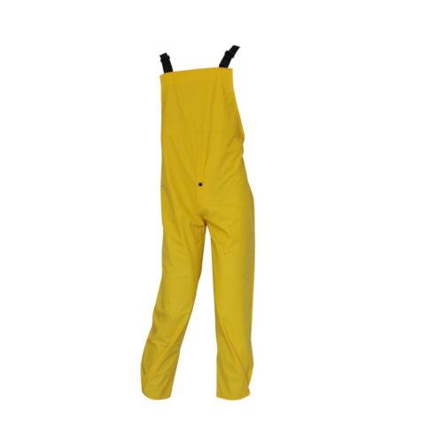TEXXOR Uomo PU Stretch pioggia patta Pantaloni Tg S Pantaloni lavoro pantaloni Umidità Protezione Giallo