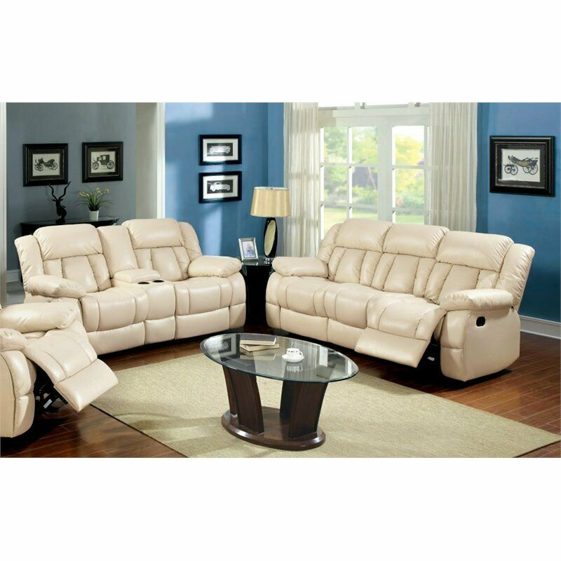 Excellent Furniture Of America Carrell 2 Piece Leather Reclining Sofa Set Machost Co Dining Chair Design Ideas Machostcouk